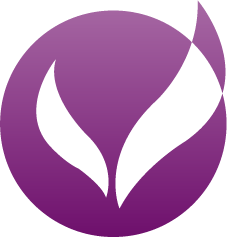Purple blended logo