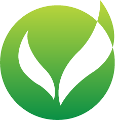 green blended logo